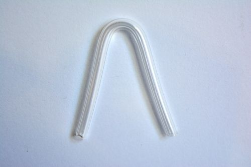 Absorbent tube, curved 1piece