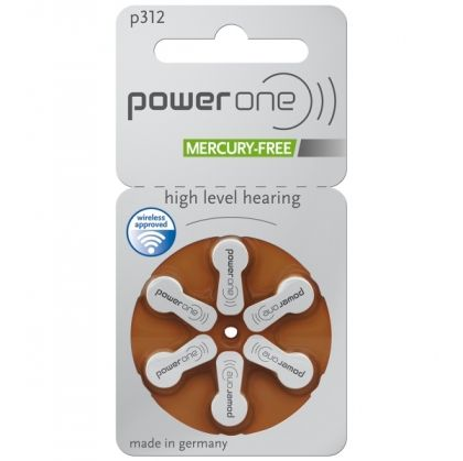 Battery 312 PowerOne MF (60 pcs pack)(price in store is for 1 battery)