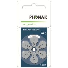 Battery 675 PowerOne Phonak MF (60 pcs pack)(price in store is for 1 battery)