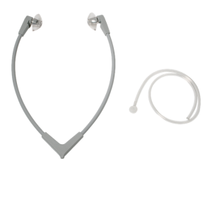Stetoclip Standard, grey, with hard plastic earplugs